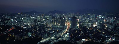 Aerial view of a city, Seoul, South Korea 2011 Poster by Panoramic Images for $71.25 CAD