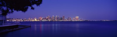San Diego in the Distance, Night View Poster by Panoramic Images for $86.25 CAD