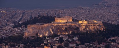 Acropolis of Athens, Athens, Attica, Greece Poster by Panoramic Images for $82.50 CAD