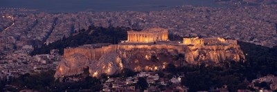 Acropolis of Athens, Athens, Attica, Greece Poster by Panoramic Images for $71.25 CAD