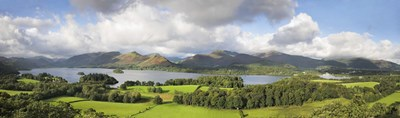 Hill and lake, Derwent Water, Keswick, English Lake District, Cumbria, England Poster by Panoramic Images for $71.25 CAD