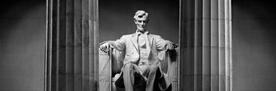 Statue of Abraham Lincoln in a memorial, Lincoln Memorial, Washington DC Poster by Panoramic Images for $71.25 CAD