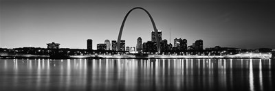 Black and white view of St. Louis, Missouri Poster by Panoramic Images for $71.25 CAD