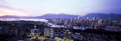 Aerial view of cityscape at sunset, Vancouver, British Columbia, Canada 2011 Poster by Panoramic Images for $71.25 CAD