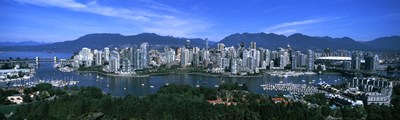 Aerial view of a cityscape, Vancouver, British Columbia, Canada 2011 Poster by Panoramic Images for $86.25 CAD