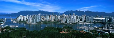 Aerial view of a cityscape, Vancouver, British Columbia, Canada 2011 Poster by Panoramic Images for $71.25 CAD