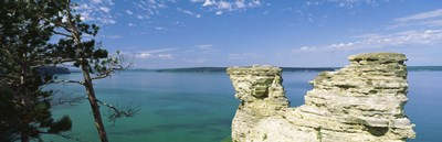 Miner's Castle, Pictured Rocks National Lakeshore, Lake Superior, Munising, Upper Peninsula, Michigan, USA Poster by Panoramic Images for $71.25 CAD