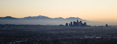 Hazy Sky over Los Angeles, Panoramic View Poster by Panoramic Images for $71.25 CAD