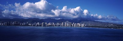City at the waterfront, Waikiki, Honolulu, Oahu, Hawaii, USA Poster by Panoramic Images for $86.25 CAD