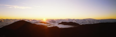 Volcanic landscape covered with clouds, Haleakala Crater, Maui, Hawaii, USA Poster by Panoramic Images for $86.25 CAD