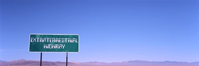 Extraterrestrial Highway sign, Area 51, Nevada, USA Poster by Panoramic Images for $71.25 CAD