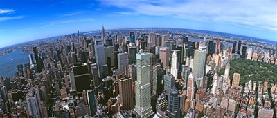 Aerial view of New York City, New York State, USA 2012 Poster by Panoramic Images for $102.50 CAD