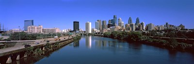 Buildings at the waterfront, Philadelphia, Schuylkill River, Pennsylvania, USA Poster by Panoramic Images for $86.25 CAD