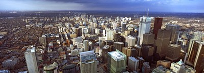 Aerial view of a city, Toronto, Ontario, Canada 2011 Poster by Panoramic Images for $67.50 CAD