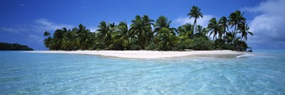 Tapuaetai Motu from the Lagoon, Aitutaki, Cook Islands Poster by Panoramic Images for $86.25 CAD