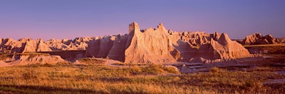 Rock formations in a desert, Badlands National Park, South Dakota, USA Poster by Panoramic Images for $71.25 CAD