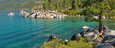 Boulders at Sand Harbor, Lake Tahoe, Nevada, USA Poster by Panoramic Images for $71.25 CAD