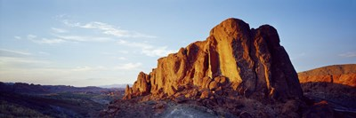 Red rock at summer sunset, Valley Of Fire State Park, Nevada, USA Poster by Panoramic Images for $86.25 CAD