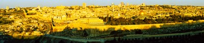 High angle view of a city, Jerusalem, Israel Poster by Panoramic Images for $71.25 CAD