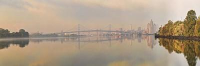 Bridge across a river, Benjamin Franklin Bridge, Delaware River, Philadelphia, Pennsylvania, USA Poster by Panoramic Images for $86.25 CAD