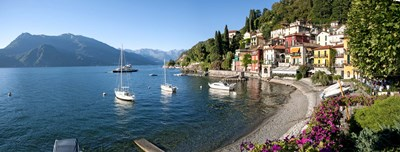 Early evening view of waterfront at Varenna, Lake Como, Lombardy, Italy Poster by Panoramic Images for $86.25 CAD