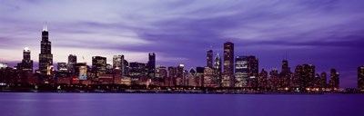 Chicago in Purple Poster by Panoramic Images for $86.25 CAD