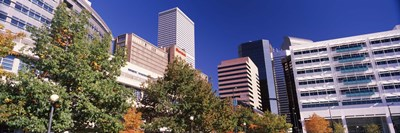 Low angle view of buildings in a city, Sheraton Downtown Denver Hotel, Denver, Colorado, USA Poster by Panoramic Images for $86.25 CAD