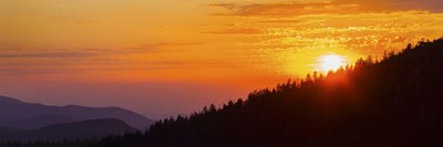 Orange Sunset at Clingmans Dome, Tennessee Poster by Panoramic Images for $71.25 CAD
