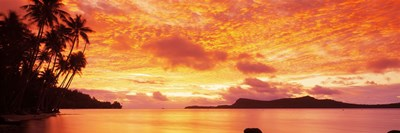 Sunset, Huahine Island, Tahiti Poster by Panoramic Images for $86.25 CAD