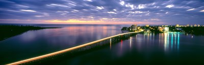 Estero Boulevard at night, Fort Myers Beach, Estero Island, Lee County, Florida, USA Poster by Panoramic Images for $71.25 CAD