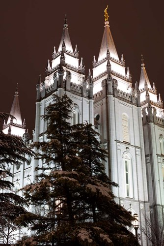 Mormon Temple, Salt Lake City, Utah Poster by Panoramic Images for $61.25 CAD