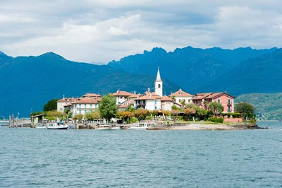 Town on an Island, Isola dei Pescatori, Stresa, Lake Maggiore, Piedmont, Italy Poster by Panoramic Images for $141.25 CAD