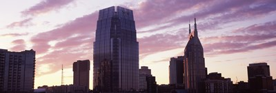 Pinnacle at Symphony Place and BellSouth Building at sunset, Nashville, Tennessee, USA 2013 Poster by Panoramic Images for $71.25 CAD