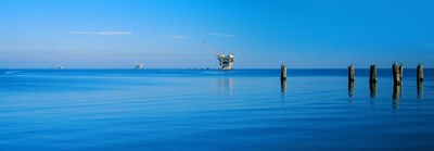 Oil Rig in the Gulf Shores, Baldwin County, Alabama Poster by Panoramic Images for $90.00 CAD
