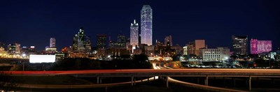 Dallas at Night Poster by Panoramic Images for $68.75 CAD
