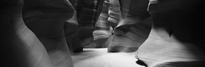Rock formations in Black and White, Antelope Canyon, Arizona Poster by Panoramic Images for $71.25 CAD