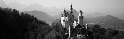 Castle on a hill, Neuschwanstein Castle, Bavaria, Germany Poster by Panoramic Images for $71.25 CAD