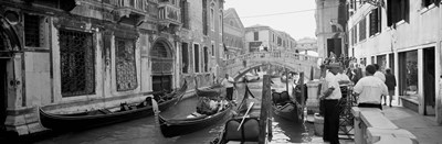 Buildings along a canal, Grand Canal, Rio Di Palazzo, Venice, Italy (black and white) Poster by Panoramic Images for $71.25 CAD