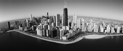 Aerial view of buildings in a city, Lake Michigan, Lake Shore Drive, Chicago, Illinois, USA Poster by Panoramic Images for $86.25 CAD