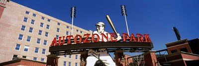 Low angle view of a baseball stadium, Autozone Park, Memphis, Tennessee, USA Poster by Panoramic Images for $73.75 CAD