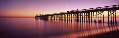 Balboa Pier at sunset, Newport Beach, Orange County, California, USA Poster by Panoramic Images for $90.00 CAD
