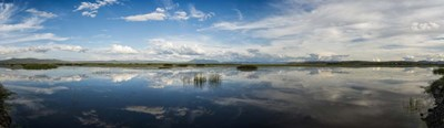 Clouds Reflecting in Lake Cuitzeo, Michoacan State, Mexico Poster by Panoramic Images for $73.75 CAD