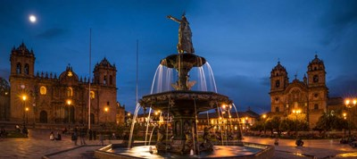 Fountain at La Catedral, Plaza De Armas, Cusco City, Peru Poster by Panoramic Images for $68.75 CAD