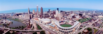 Aerial View Of Jacobs Field, Cleveland, Ohio, USA Poster by Panoramic Images for $86.25 CAD