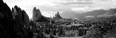 Garden of The Gods, Colorado Springs, Colorado (black & white) Poster by Panoramic Images for $80.00 CAD