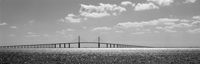 Bridge across a bay, Sunshine Skyway Bridge, Tampa Bay, Florida Poster by Panoramic Images for $77.50 CAD
