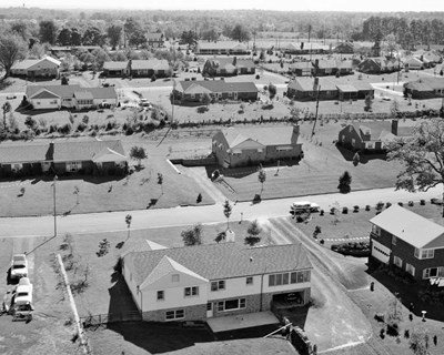 1950s 1960s Aerial View Of Suburban Housing Poster by Vintage PI for $58.75 CAD