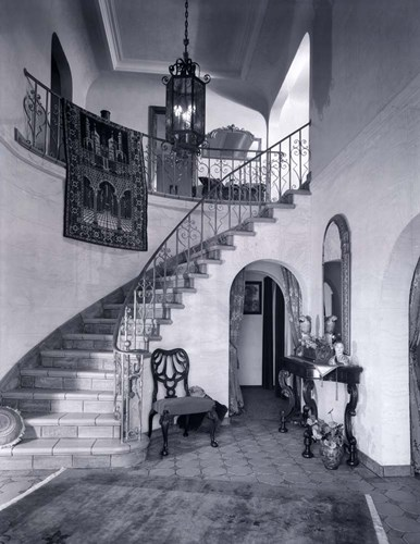 1920s Upscale Home Entry With Spiral Staircase Poster by Vintage PI for $58.75 CAD
