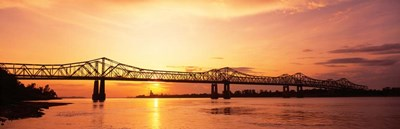 Bridge At Sunset, Mississippi Poster by Panoramic Images for $90.00 CAD