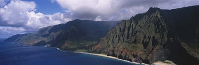 Aerial view of the coast, Na Pali Coast, Kauai, Hawaii, USA Poster by Panoramic Images for $86.25 CAD